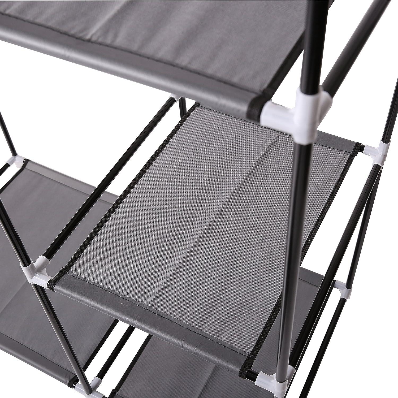 TRESKO® Armario de Tela y Tubo Metal para Ropa Organizador ...