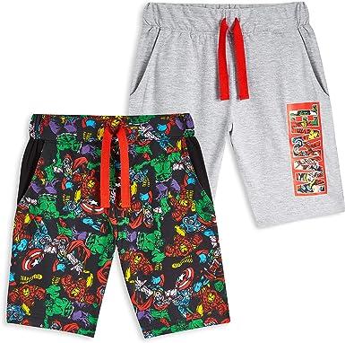 Marvel Pantalones Cortos, Pantalon Corto Niño con Los Vengadores Iron Man Capitan America Thor y Hulk, Pantalon Pijama Niño Verano, Regalos para Niños: Amazon.es: Ropa y accesorios