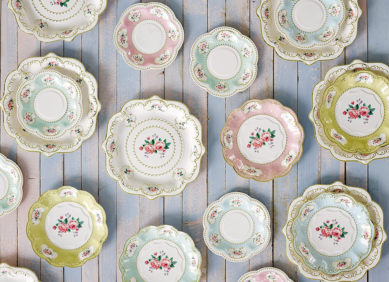 2.5/x 14.5/x 14.5/cm Talking Tables Truly Chintz 14/cm Extra Piccola Piastra 3/Design con Lamina d Oro Multicolore Carta 12/Pezzi