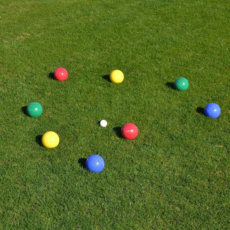 amazon com gosports backyard bocce set with 8 balls pallino