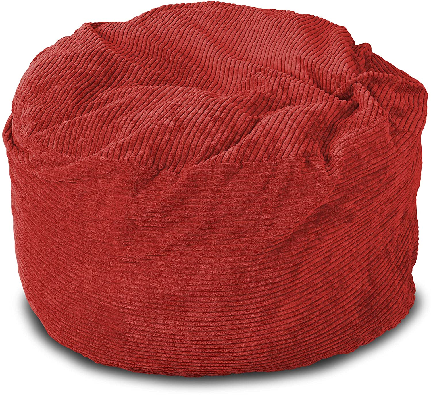 Amazon Lounge & Co Corduroy Round Foam Chair 36 Inch Red