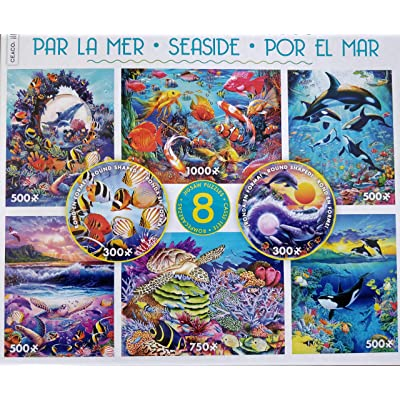 Seaside 8-in-1 Multipack Puzzles - (2) 300Piece, (4) 550Piece, (1) 750Piece, (1) 1000Piece: Toys & Games