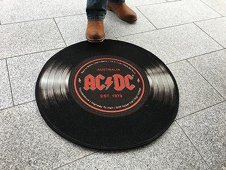 empireposter AC/DC - Tocadiscos - Alfombra Tamaño Ø 100 cm: Amazon ...
