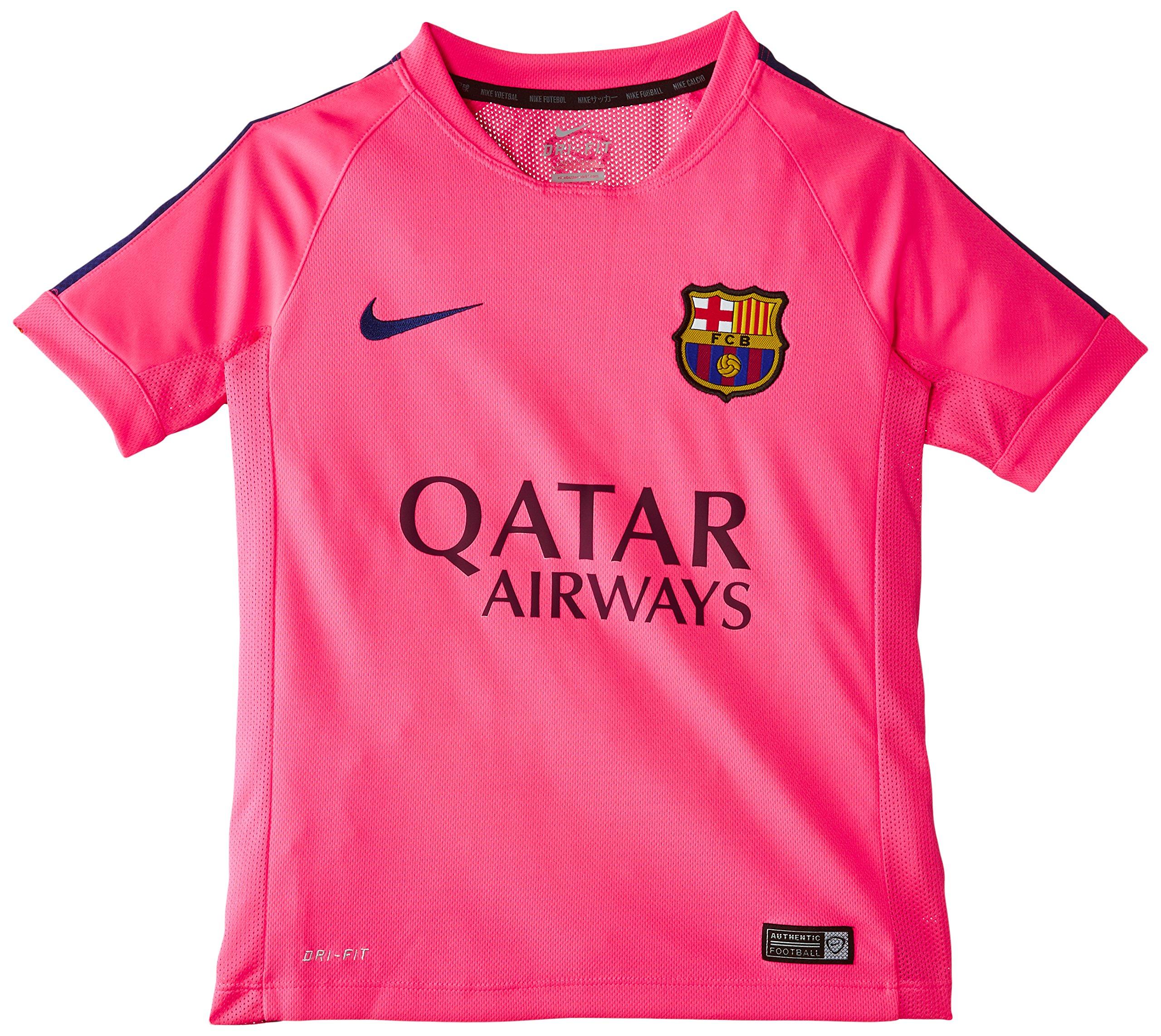detailed look 33049 55773 Galleon - 2014-2015 Barcelona Nike Training Shirt (Pink) - Kids