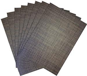 Benson Mills Tweed Woven Placemats, Chocolate, Set of 8