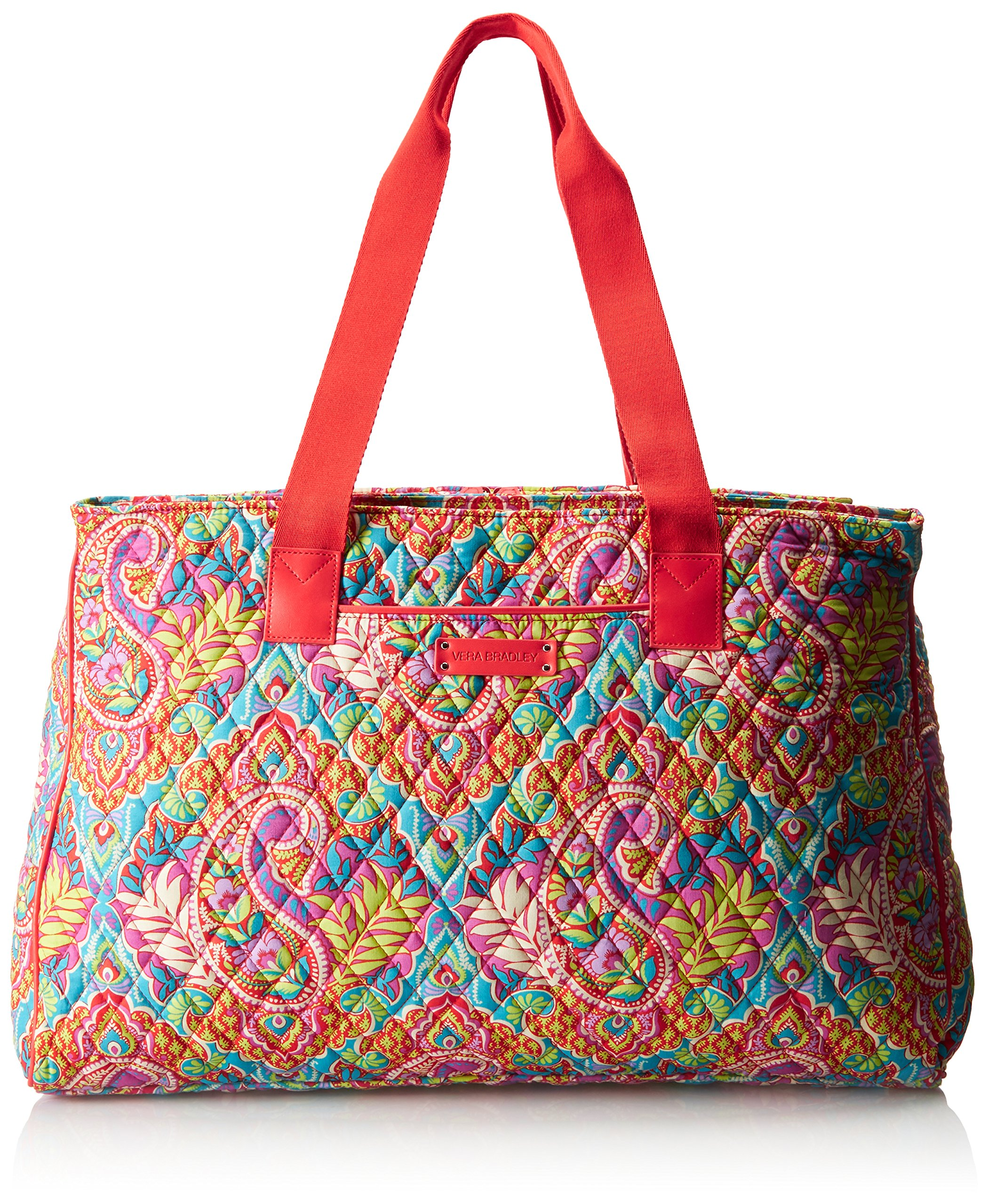 Vera Bradley Women's Triple Compartment Travel Bag, Paisley in Paradise Red by Vera Bradley (Image #1)