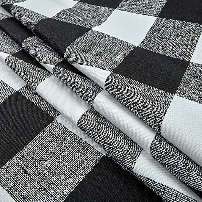 Plaid Print Cotton Home Decor Fabric by the yard. By Premier prints Best seller Black  and white in Plaid