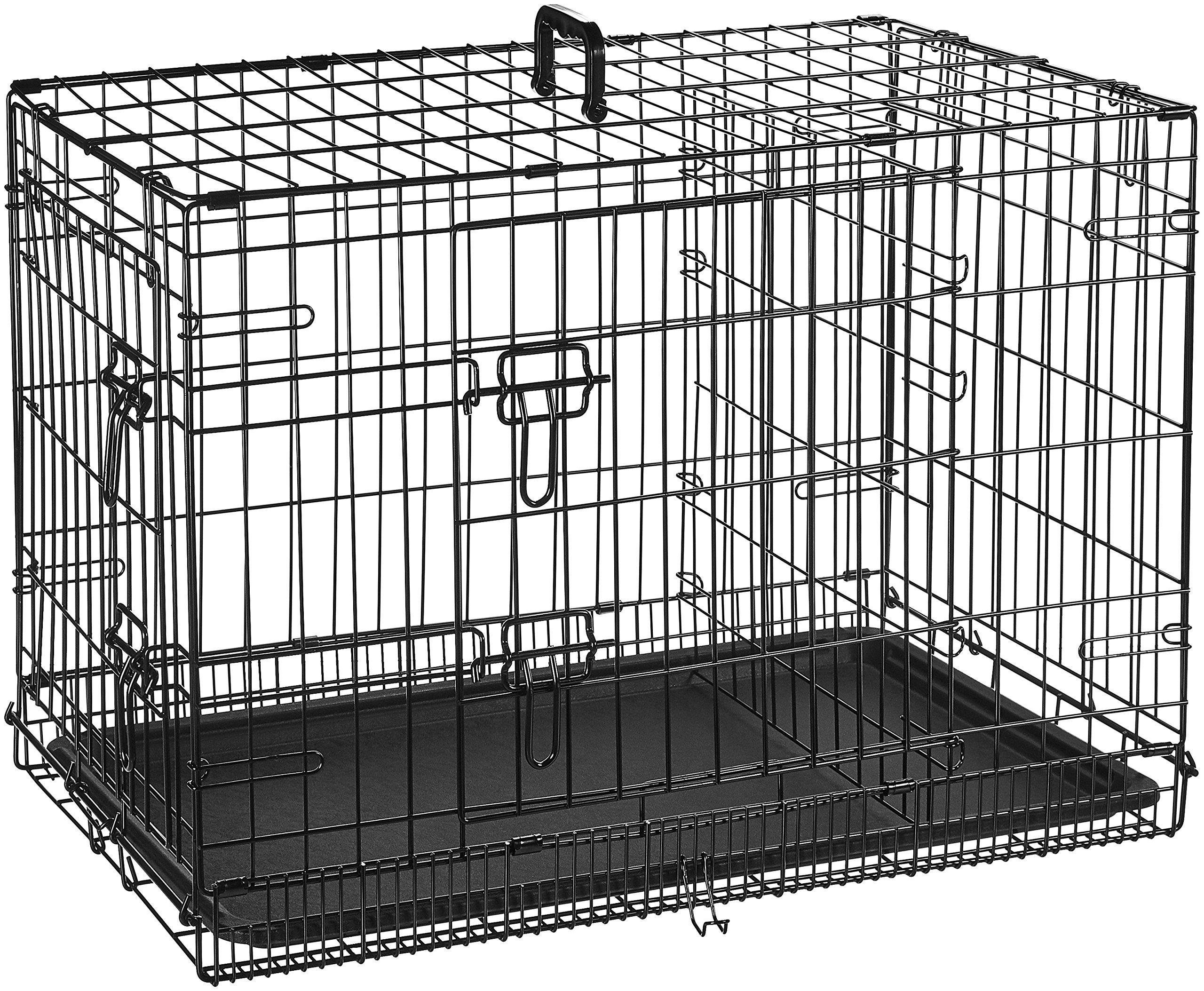 AmazonBasics Double-Door Folding Metal Dog Crate - 30 Inches by AmazonBasics (Image #4)