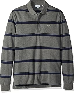 1847aa64 Lacoste Men's Holiday Long Sleeve Slubbed Pique Polo-Regular Fit at ...