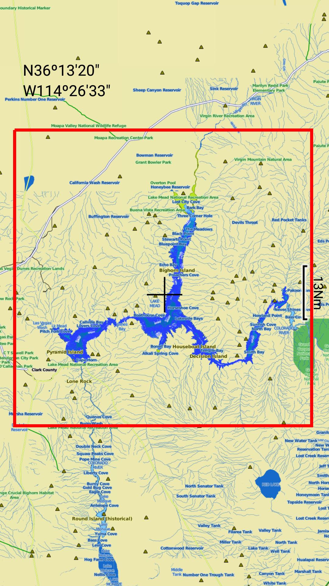 Lake Mead map GPS offline fishing charts Navigator: Amazon.es ...