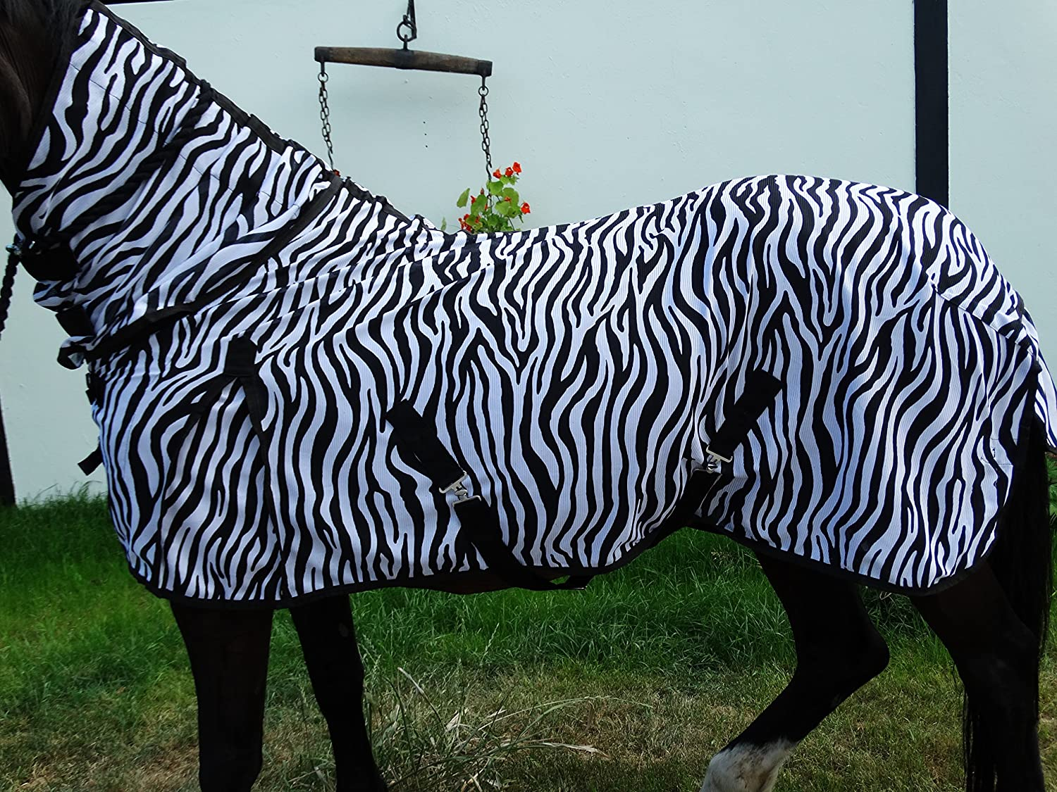 115 cm Wild Thing Zebra Fly Rug Combo With Neck Piece