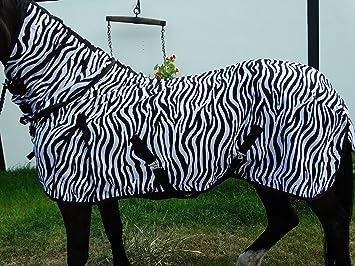 Wild Thing Zebra Combi – Manta antimoscas con cuello notebook blanco/negro Talla:115