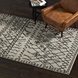 Amazon Brand – Rivet Contemporary Wool Area Rug, 4 x 6 Foot, Grey and Charcoal
