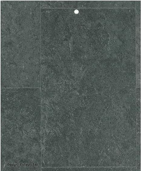 0598-Bellagio 3.5 mm Thick Black Granite Stone Tile effect Anti Slip ...