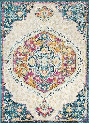 Well Woven Cato Fuschia Vintage Bohemian Medallion Area Rug 5×7 5 3 x 7 3