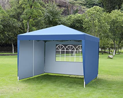 premium selection a4247 68df5 CHARAVECTOR Heavy Duty Ez Pop Up Gazebo Canopy Tent for Outdoor Waterproof  Party Wedding Exhibition Pavilion BBQ Beach Car Shelter (1010 with ...