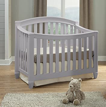 Thomasville Kids Highlands 4 In 1 Convertible Crib, Pebble Gray, Easily  Converts