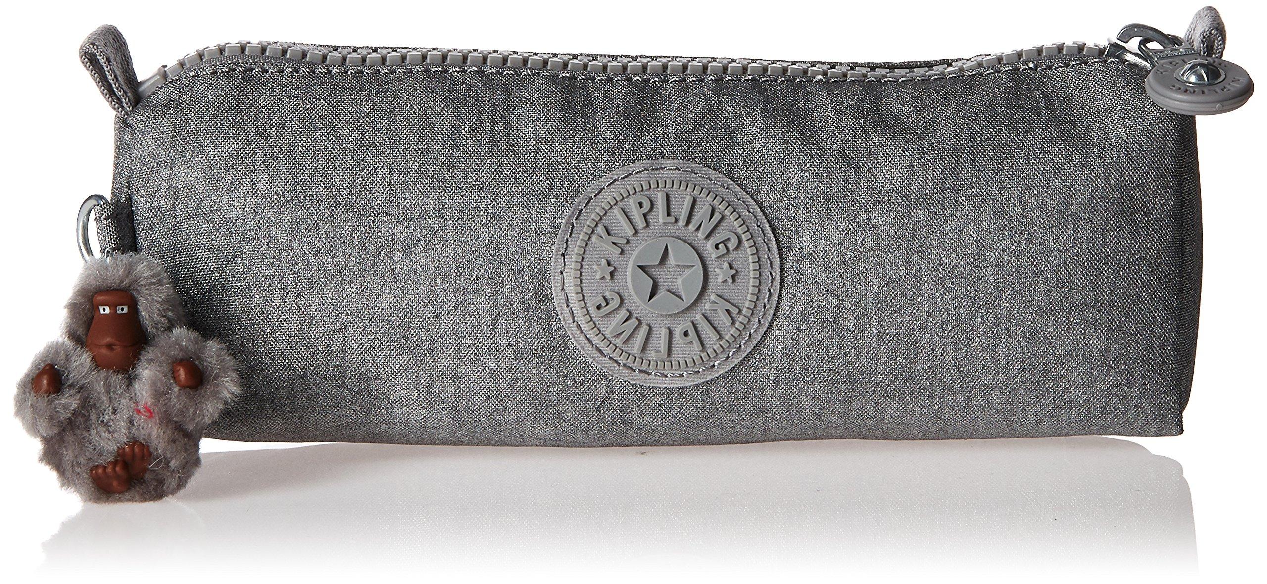 Kipling Fabian Metallic Pouch, Silver Glimmer Metallic