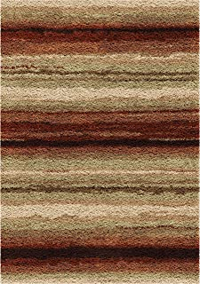 "product image for Orian Rugs Impressions Shag Sundown Area Rug, 5'3"" x 7'6"", Red"