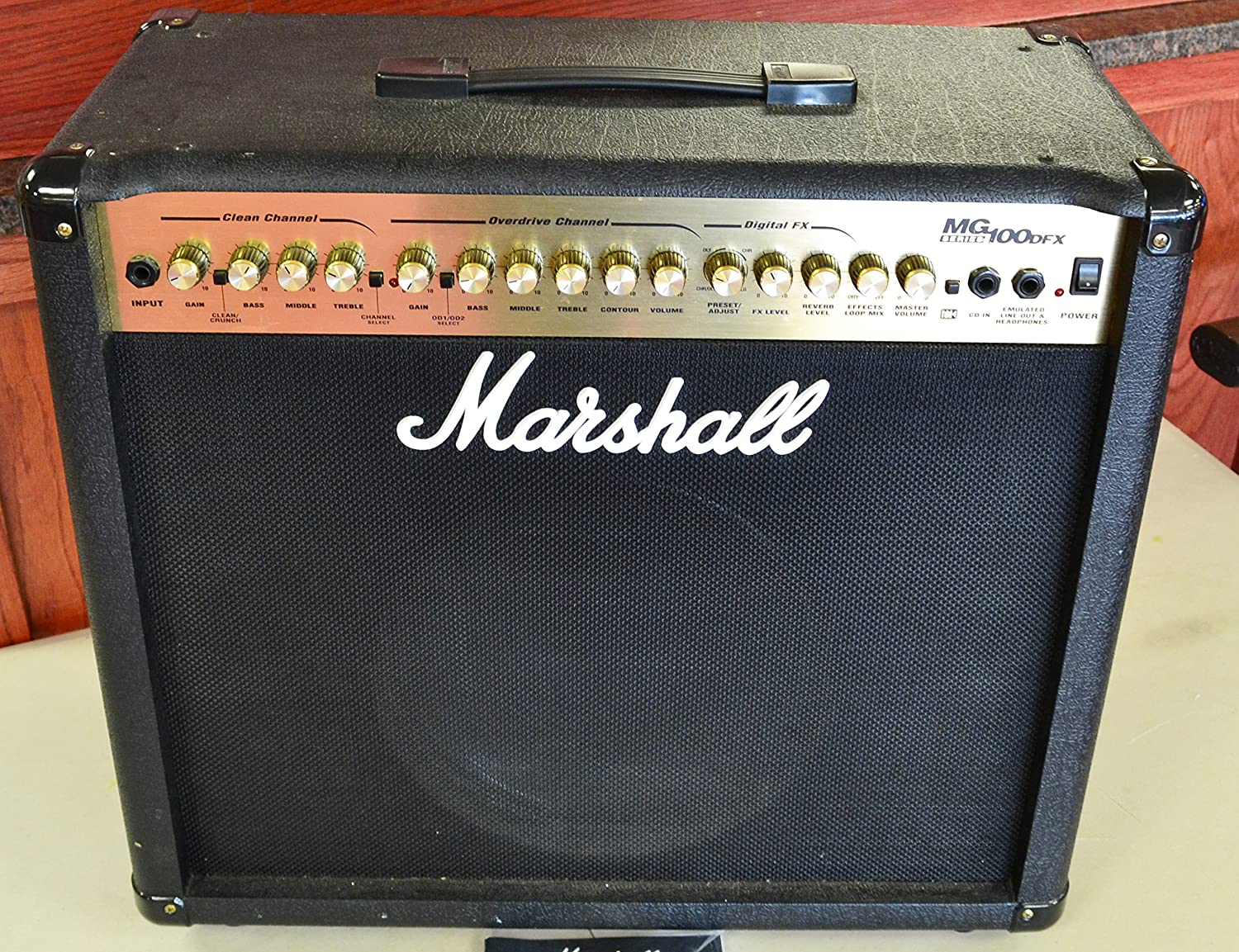 Amazon.com: Marshall MG100DFX Combo Amplifier Electric Guitar Combo Amp: Musical Instruments