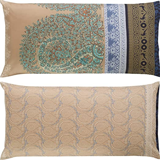 Bassetti - Funda de cojín, algodón, Beige, 40 x 80 cm: Bassetti: Amazon.es: Hogar