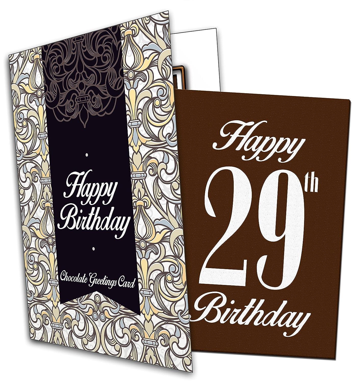 Happy 29th birthday chocolate greeting card amazon grocery m4hsunfo