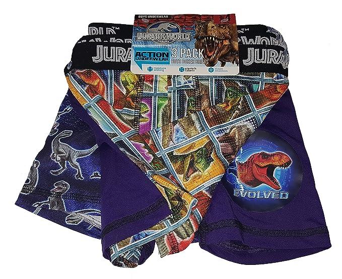 42fed7ffea Amazon.com: Fashion Jurassic World Jurassic Park Action Underwear 3 ...