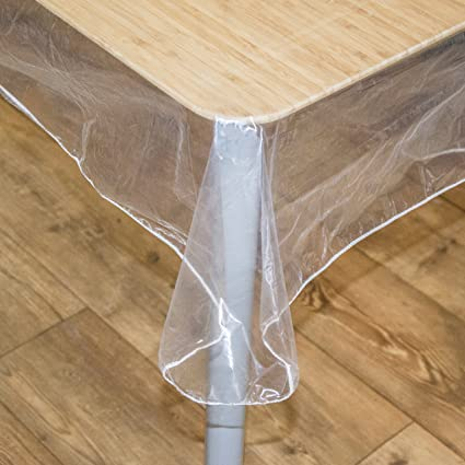 BNYD Clear Plastic Tablecloth Protector, Table Cloth Vinyl, (60u0026quot; X  108u0026quot;