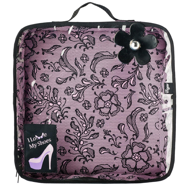 Vigar Lulu Lace - Borsa Porta Scarpe da Viaggio, Colore Rosa