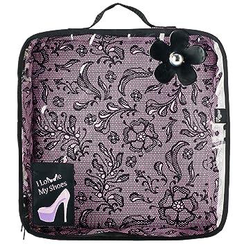 VIGAR Lulu Lace - Bolsa de zapatos de viaje, color rosa