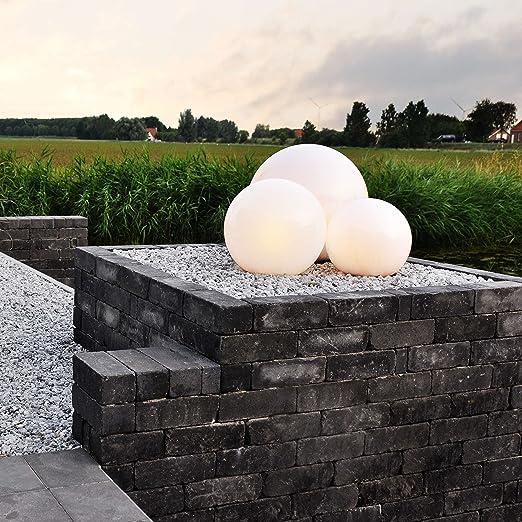 QAZQA Moderno Baliza BOL para exterior 20 Plástico Esfera Adecuado para LED Max. 1 x Watt: Amazon.es: Hogar