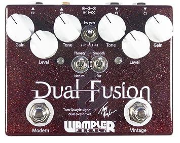 Wampler Dual Fusion Tom Quayle - Pedal de efectos para guitarra eléctrica: Amazon.es: Instrumentos musicales
