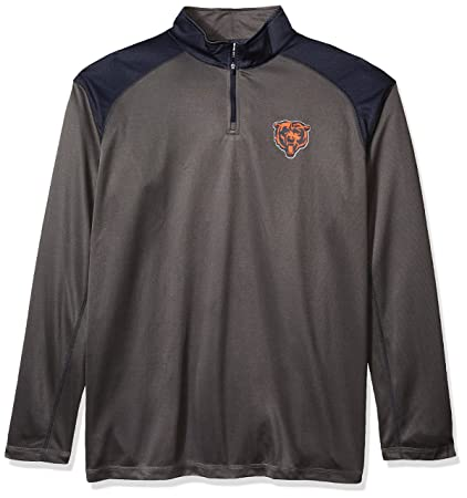 new style d3dca db4bb NFL Mens Bears 1/4 Zip Poly Jersey