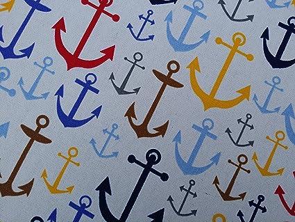 En Polycoton Tissu Petits bateaux Rideau Stores Coussins Couture