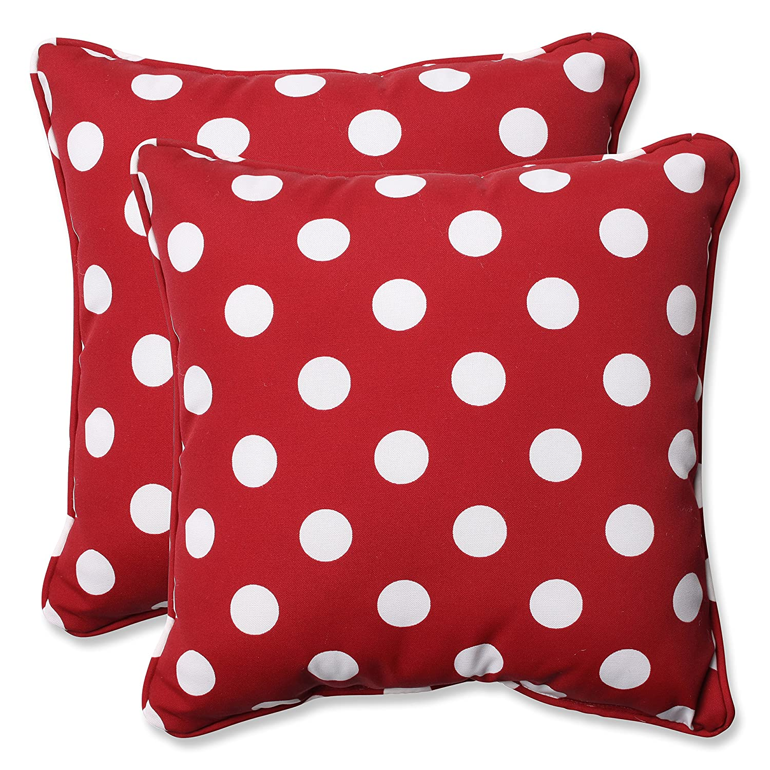 Amazon.com: Pillow Perfect Decorative Red/White Polka Dot Toss ...