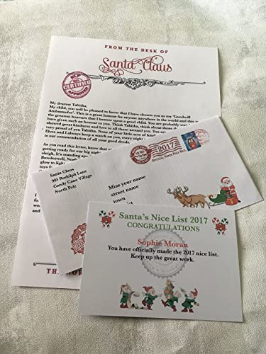 Personalised letter from santa and nice list certificate amazon personalised letter from santa and nice list certificate spiritdancerdesigns Image collections