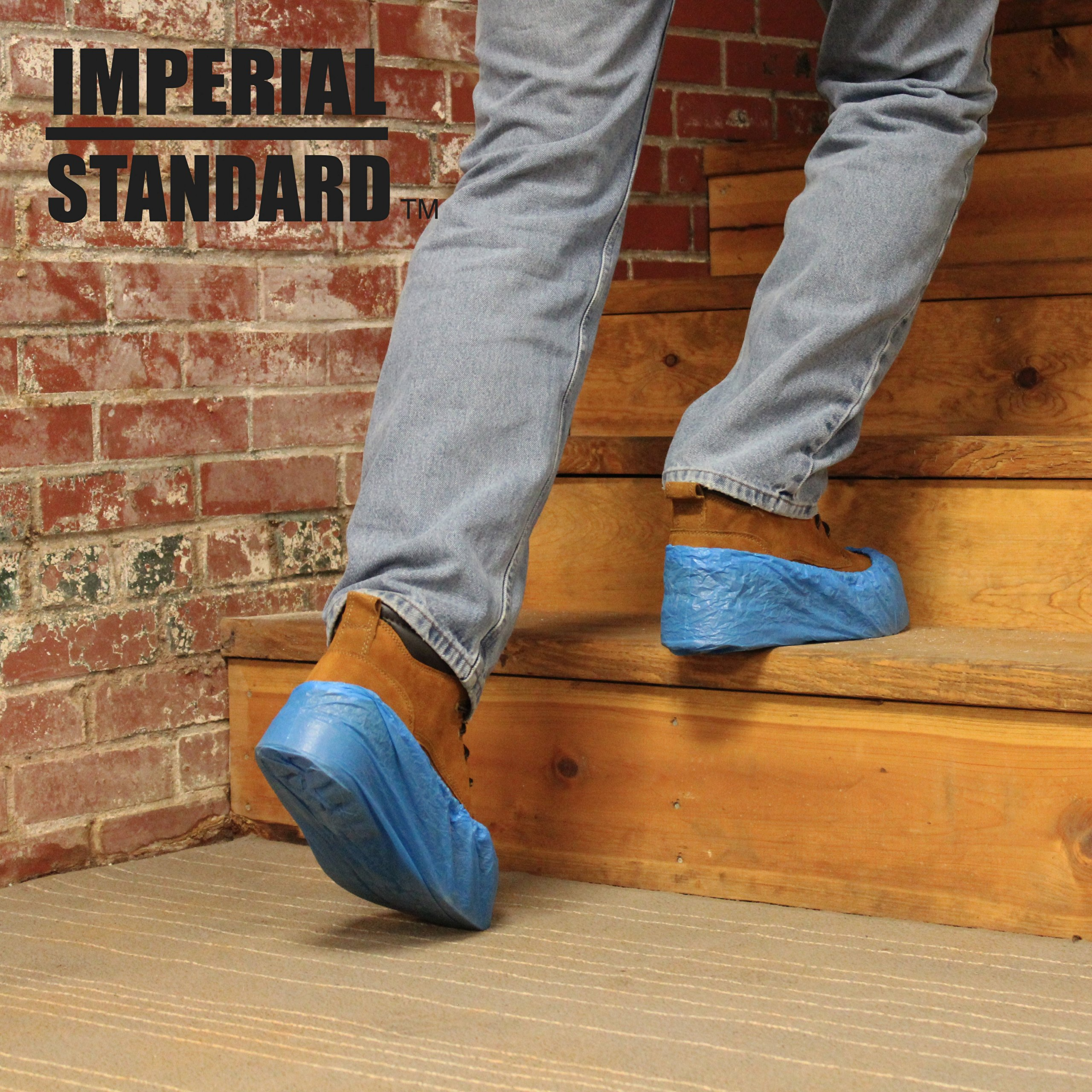 Waterproof Boot Covers for Professionals - XL Disposable Shoe Covers - Non-Slip Waterproof Shoe Protectors - Fits up to Size 13 Work Boot and Size 14 Shoe - (100 pack) by Imperial Standard (Image #5)
