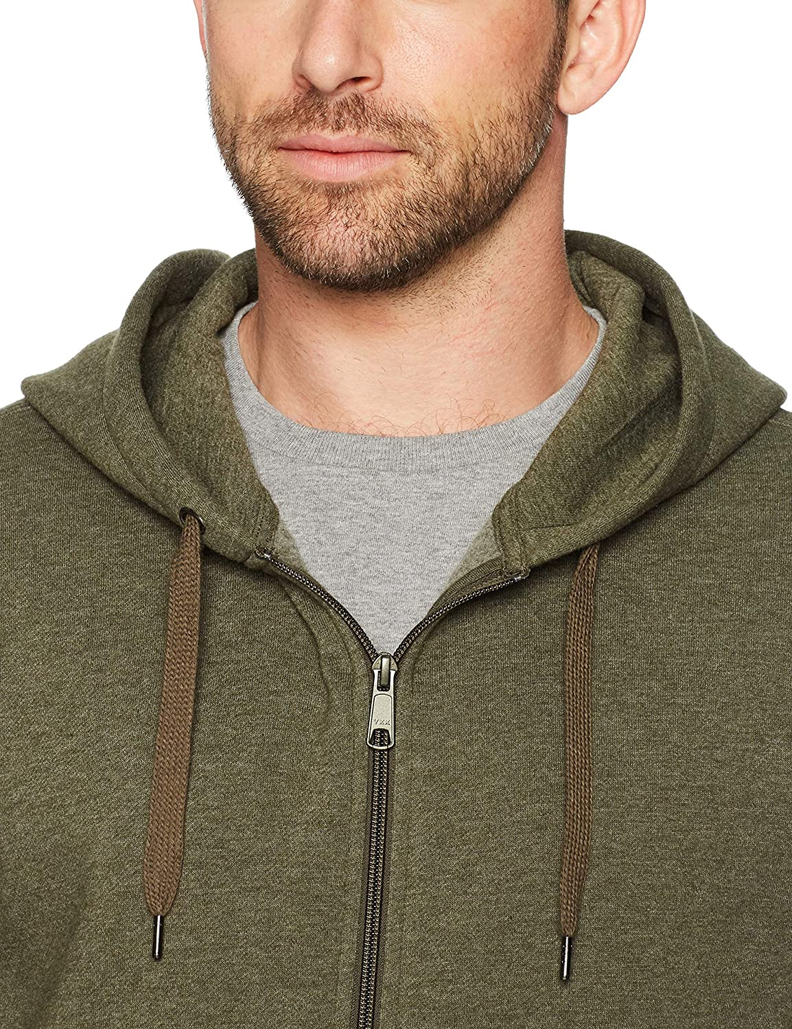 Essentials Full-Zip Hooded Fleece Sweatshirt Hombre