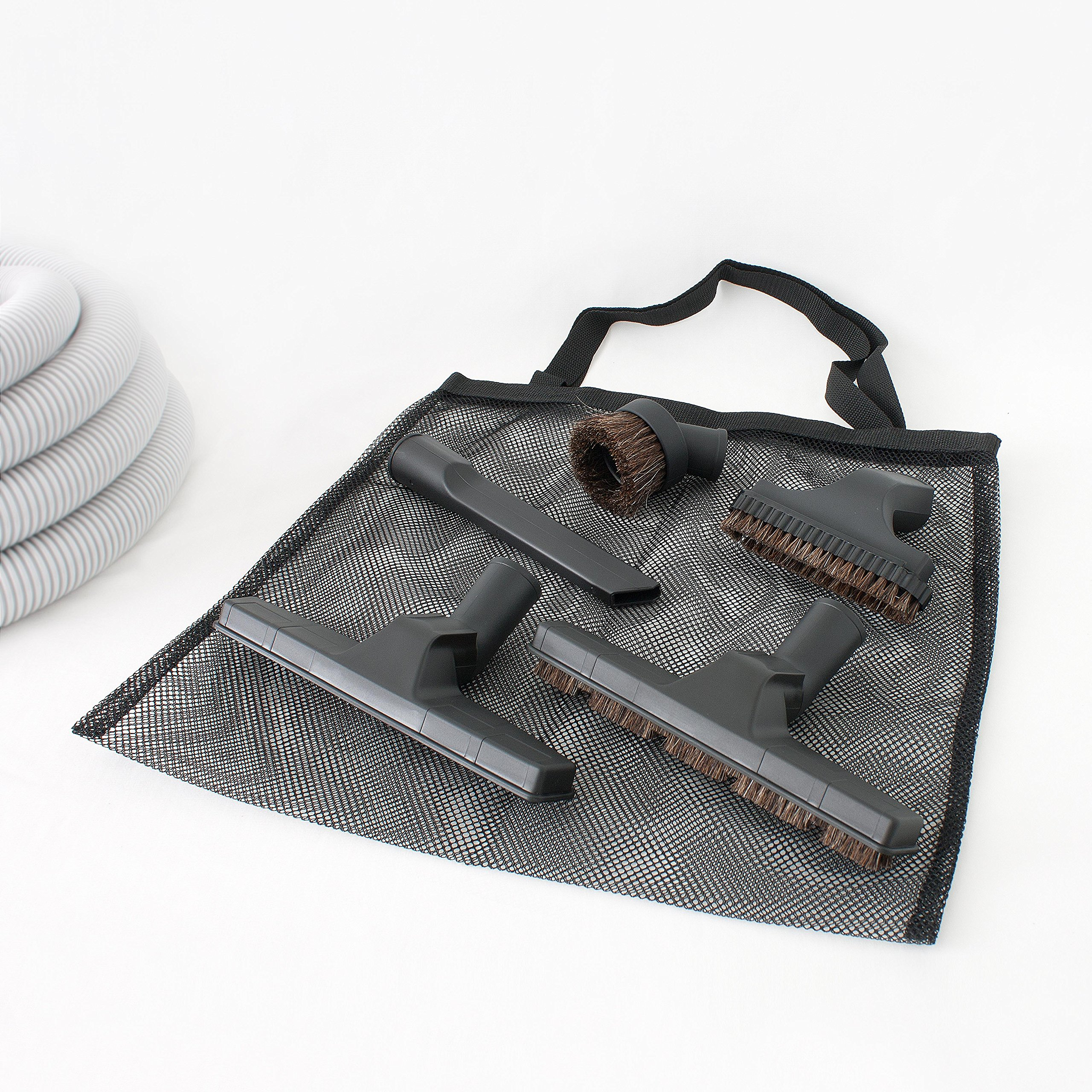 Central Vacuum Deluxe Hardwood, Bare floor and Carpet Kit with 30ft Hose and Accessories by Plastiflex (Image #4)