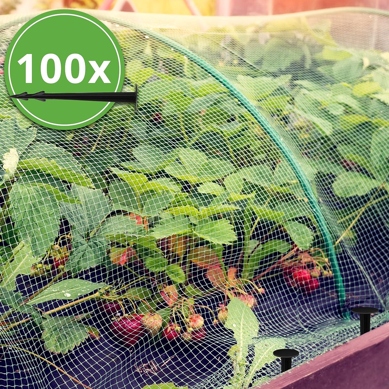 Lumaland Ancrage piquet de terre 100 pièces avec barbillon extra résistant