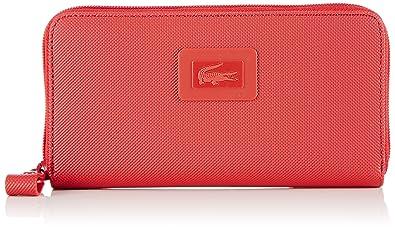 Lacoste NF1262WM Cartera para mujer, color rojo, talla ...