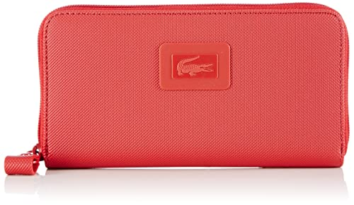 Lacoste NF1262WM Cartera para mujer, color rojo, talla 19x11x3 cm (B x H