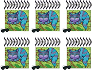 "Beistle 60063, 6 Piece Pin The Smile On The Cheshire Cat Games, 16"" x 18"", Multicolor"