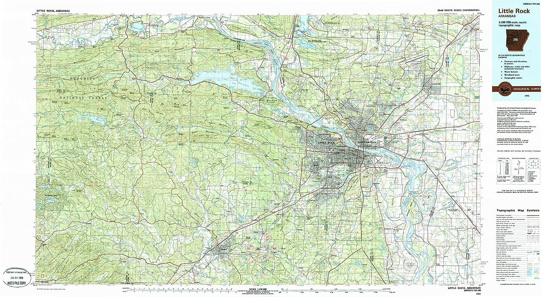 Amazon.com : YellowMaps Little Rock AR topo map, 1:100000 ...