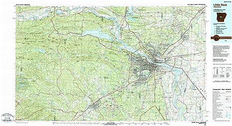 Amazon.com : YellowMaps Little Rock AR topo map, 1:100000 Scale, 30 ...