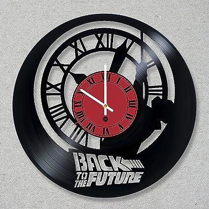 Disco de vinilo reloj de pared regreso al futuro Marty Mcfly Doc película Decor único regalo