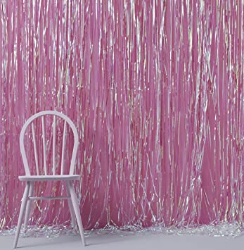 Ginger Ray Iridescent Holographic Foil Shimmer Tassel Curtain Decoration