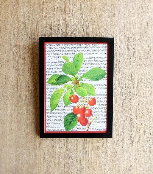 amazon com digital print wall art fruit print cherries laminated