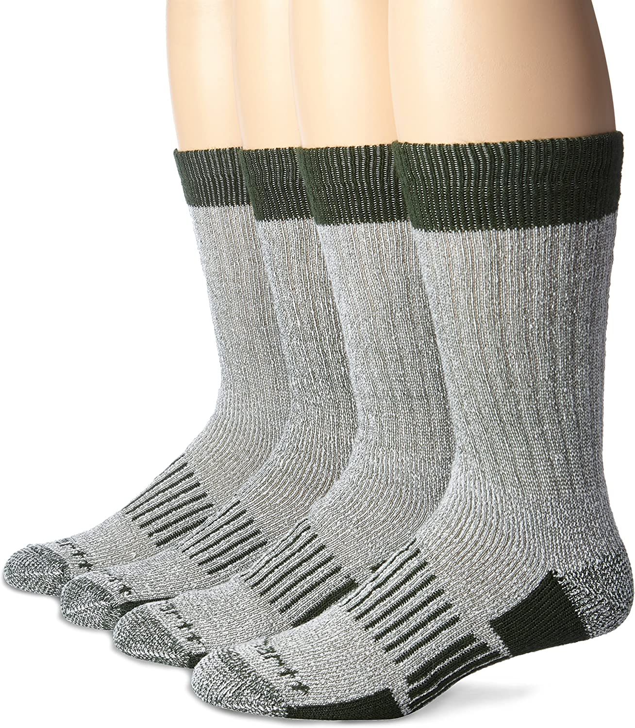 Carhartt Men's A118-4 Cold Weather Wool Blend Crew Socks (Pack of 4)