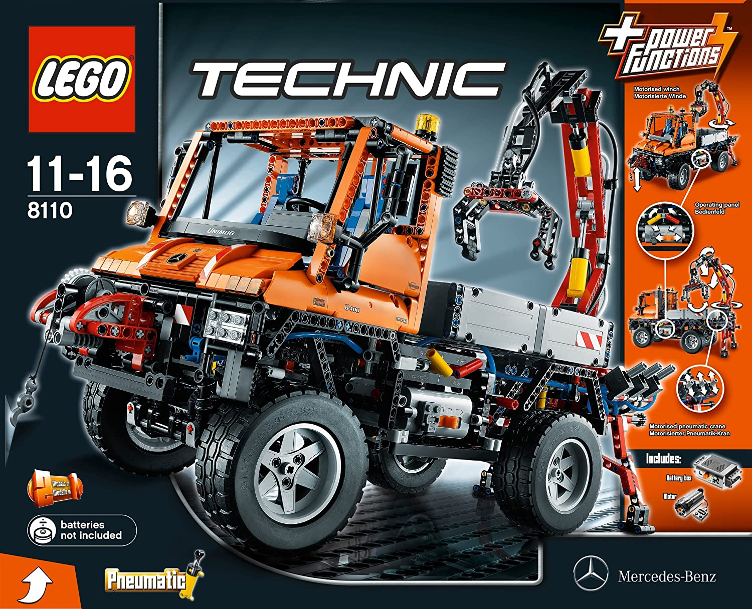 Amazon com: LEGO Technic Unimog U400 (8110): Toys & Games